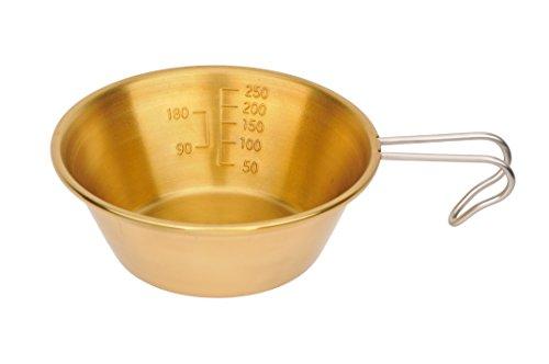 キャプテンスタッグ 真鍮製シェラスタッキングカップ320ml