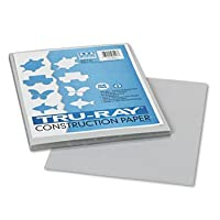 Pacon 103027 - Tru-Ray Construction Paper, 34kg., 9 x 12, Grey, 50 Sheets/Pack-PAC103027