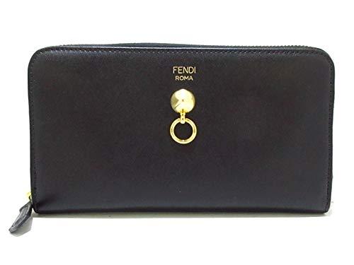 (フェンディ) FENDI 長財布 ドットコム 黒 8M0299 【中古】