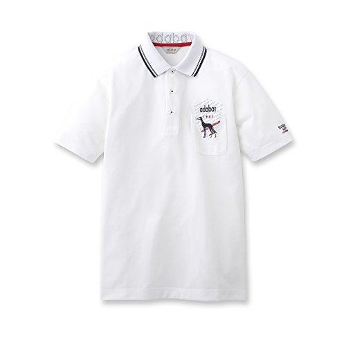 (アダバット) adabat アイスギア高機能ポロシャツ 08218535 46(M) ホワイト(001)