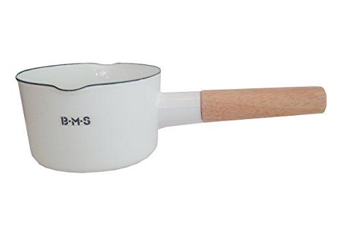 富士ホーロー 片手鍋 ミルクパン ビームス 12cm ホワイト BMS-12M・W...