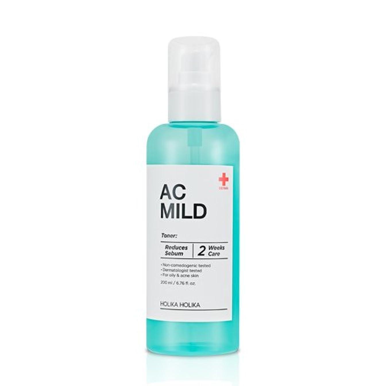 引数キャメル誇張ホリカホリカ ACマイルドスキントナー/HolikaHolika AC Mild Skin Toner 200ml?化粧水 [並行輸入品]