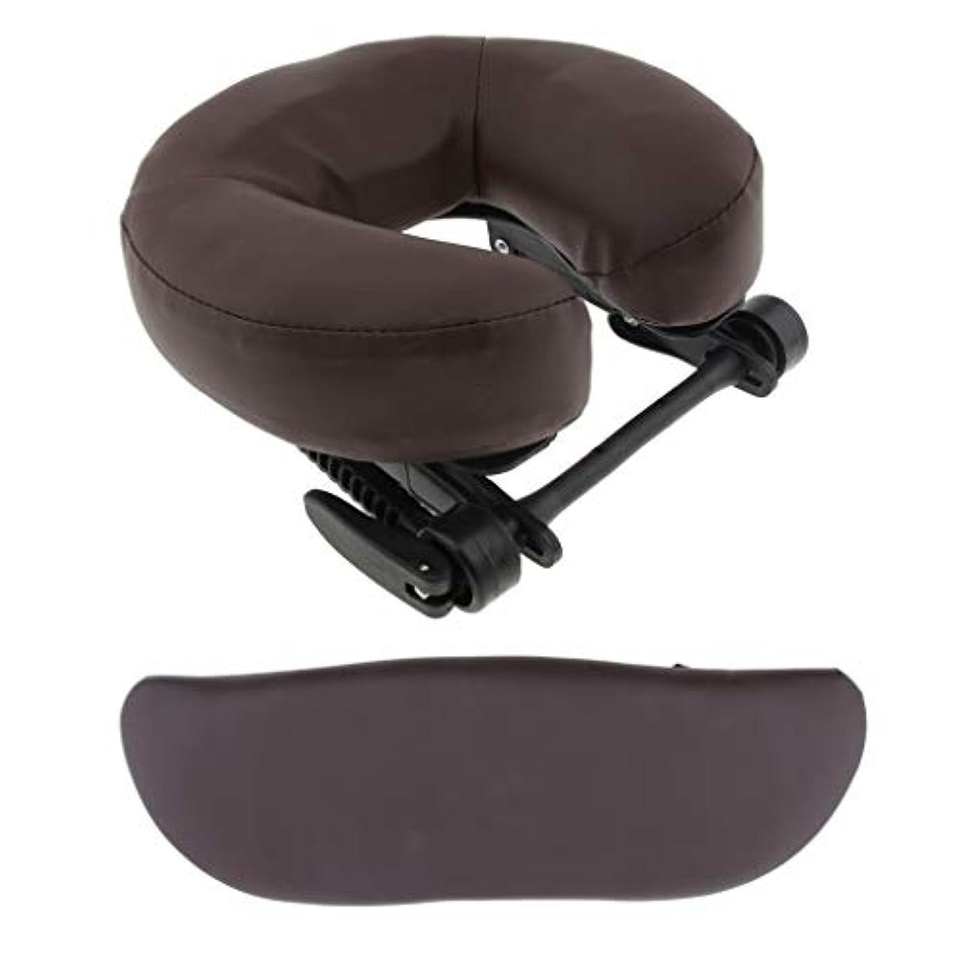衣装吸い込むリーンマッサージベッド用 クッション サポートピロー 枕 サロン 3色選べ - 褐色