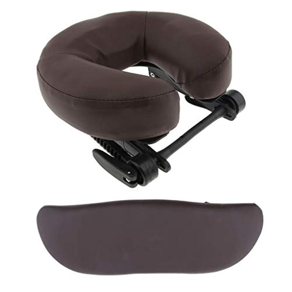 疾患レビュー公平マッサージベッド用 クッション サポートピロー 枕 サロン 3色選べ - 褐色