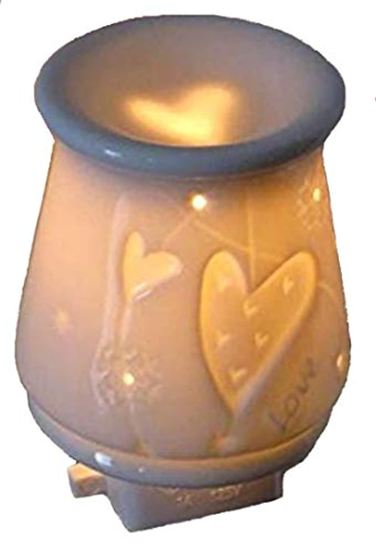 マウント彫るフラフーププレシャス コンセントライト ラヴハート (アロマランプ アロマライト)