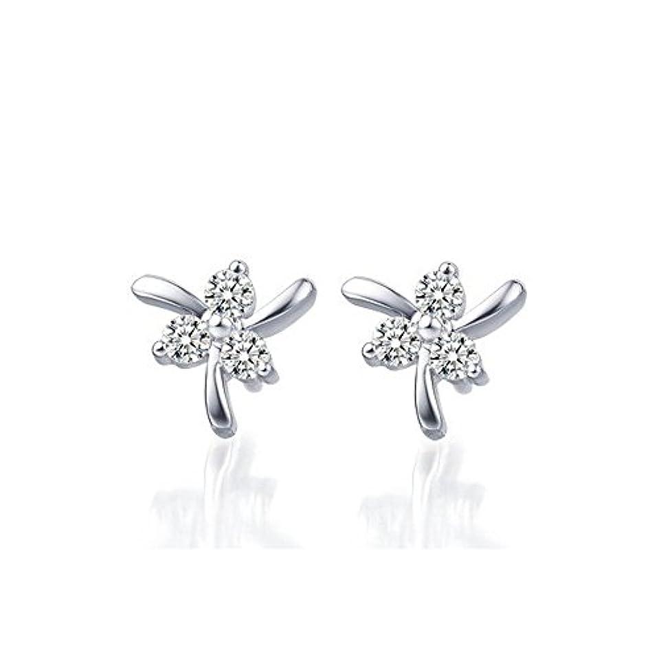 占める暖炉リサイクルするsilvernshine Jewels 3ストーンホワイトSimダイヤモンド14 KホワイトゴールドFNファッションスタッドイヤリング