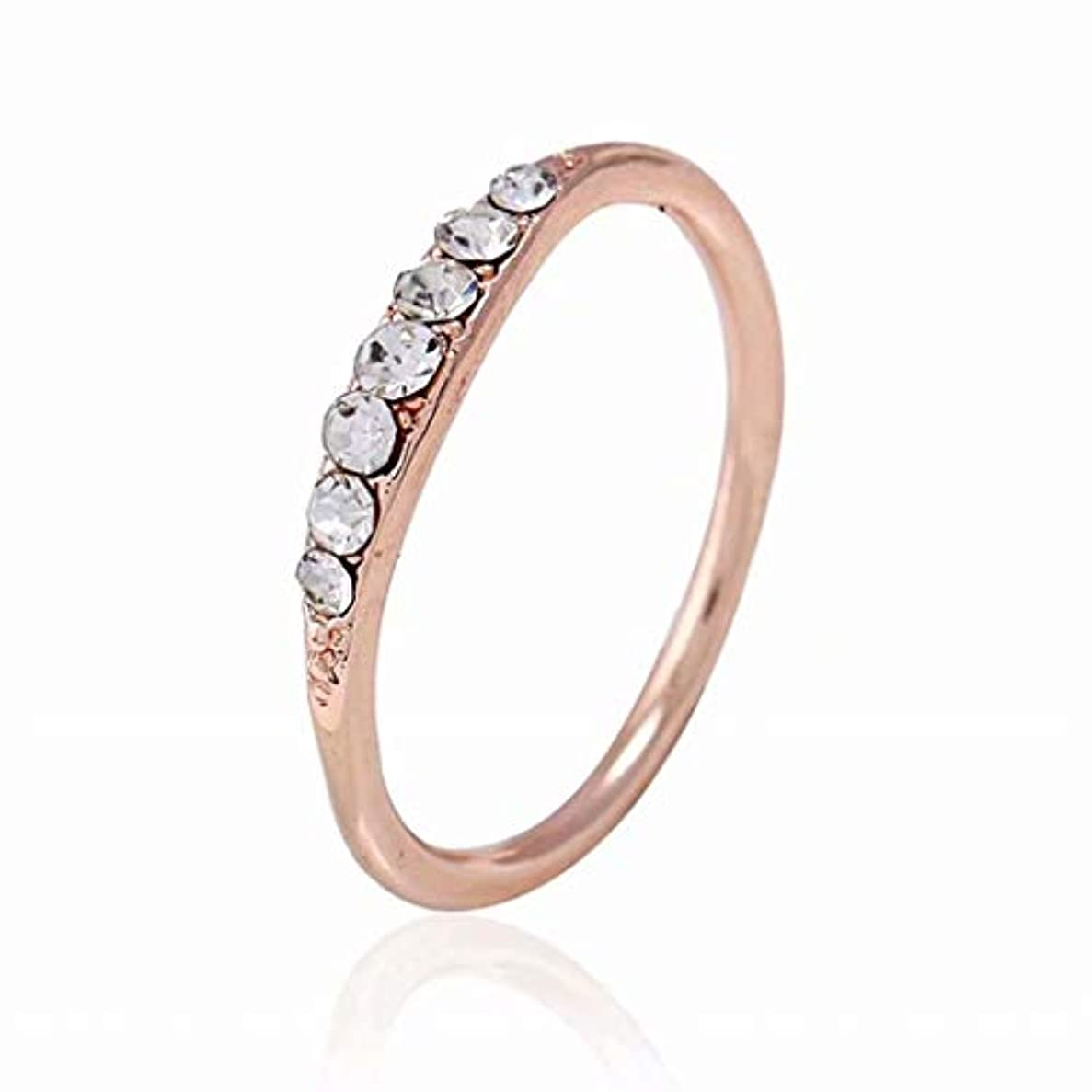 根拠負アマチュア七里の香 ダイアモンドの指輪 クリスタルエンゲージリング 結婚指輪