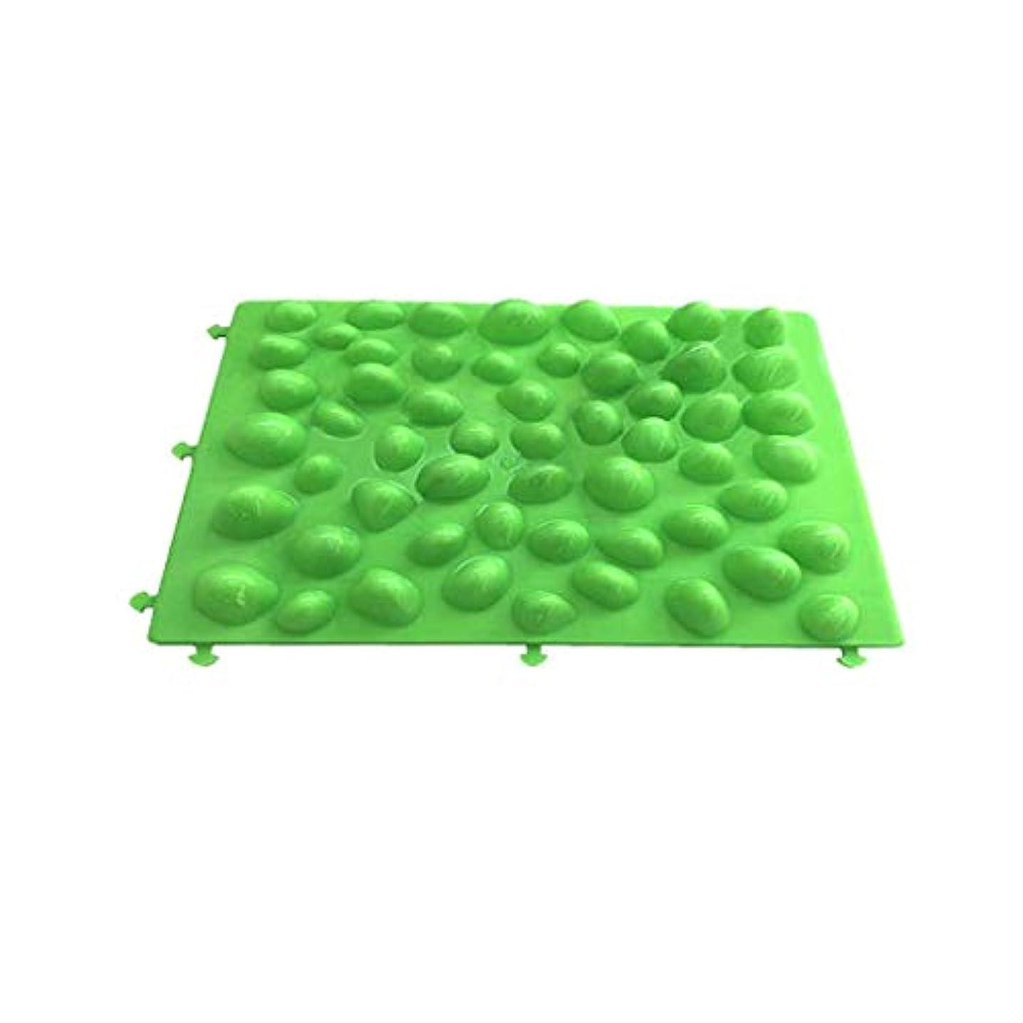 変化する人口決定足つぼマット 足裏マッサージ フットマッサージ 足/もも/背中などに対応 健康ボード 2枚セット (緑)