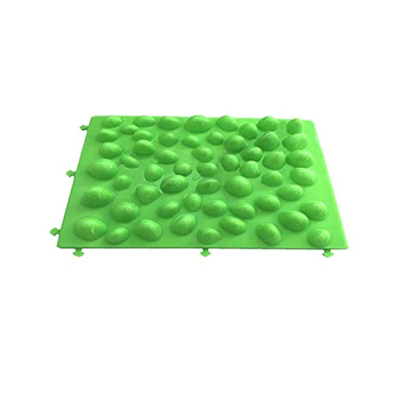 排気座る通行料金足つぼマット 足裏マッサージ フットマッサージ 足/もも/背中などに対応 健康ボード(緑)