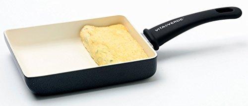 ビタベルデ 卵焼き 用 フライパン エッグパン IH対応 ソフトグリップ マグニート ブラック CW001835-002