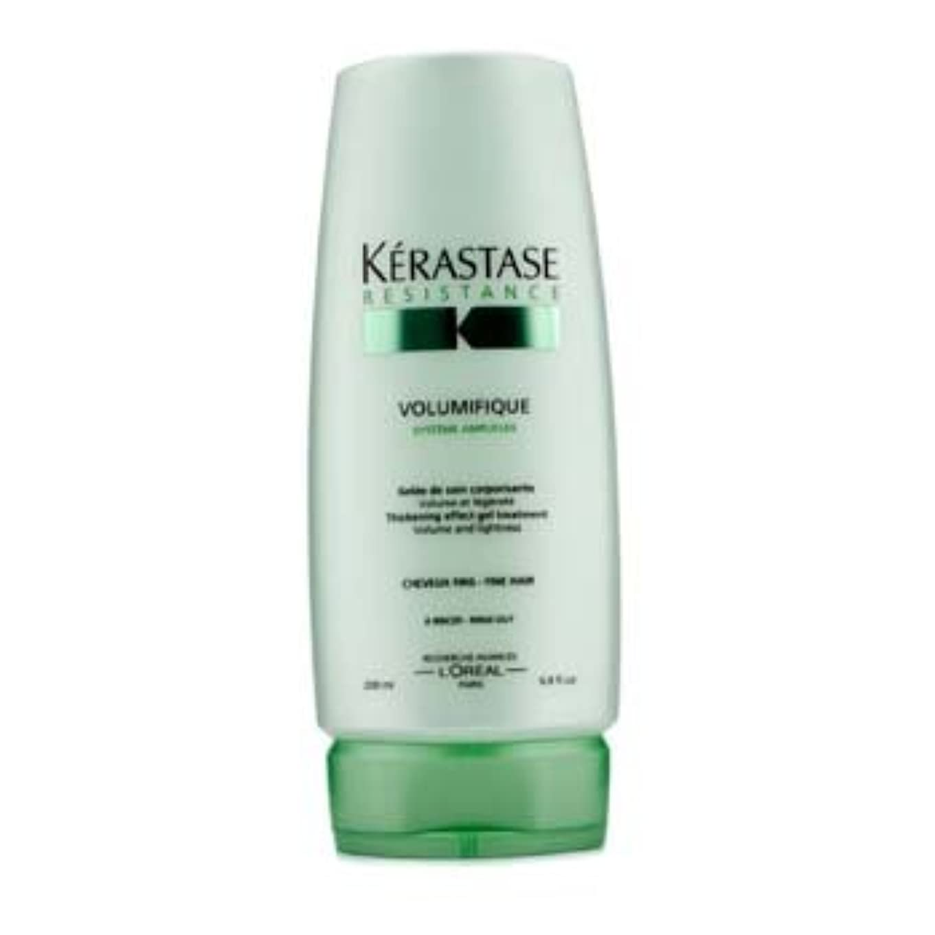 長椅子スタイルハードリングケラスターゼ Resistance Volumifique Thickening Effect Gel Treatment (For Fine Hair) 200ml/6.8oz並行輸入品
