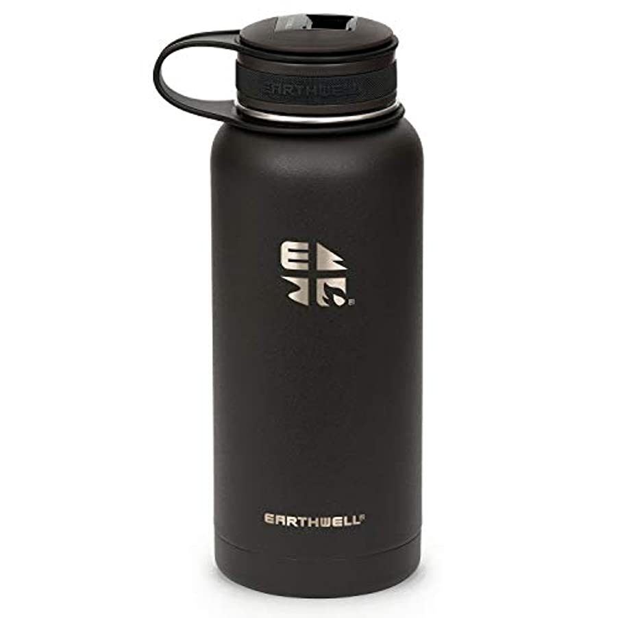 反発する可聴養うEARTHWELL(アースウェル) 32oz KEWLER OPENER Insulated Bottle 946ml【Volcanic Black】