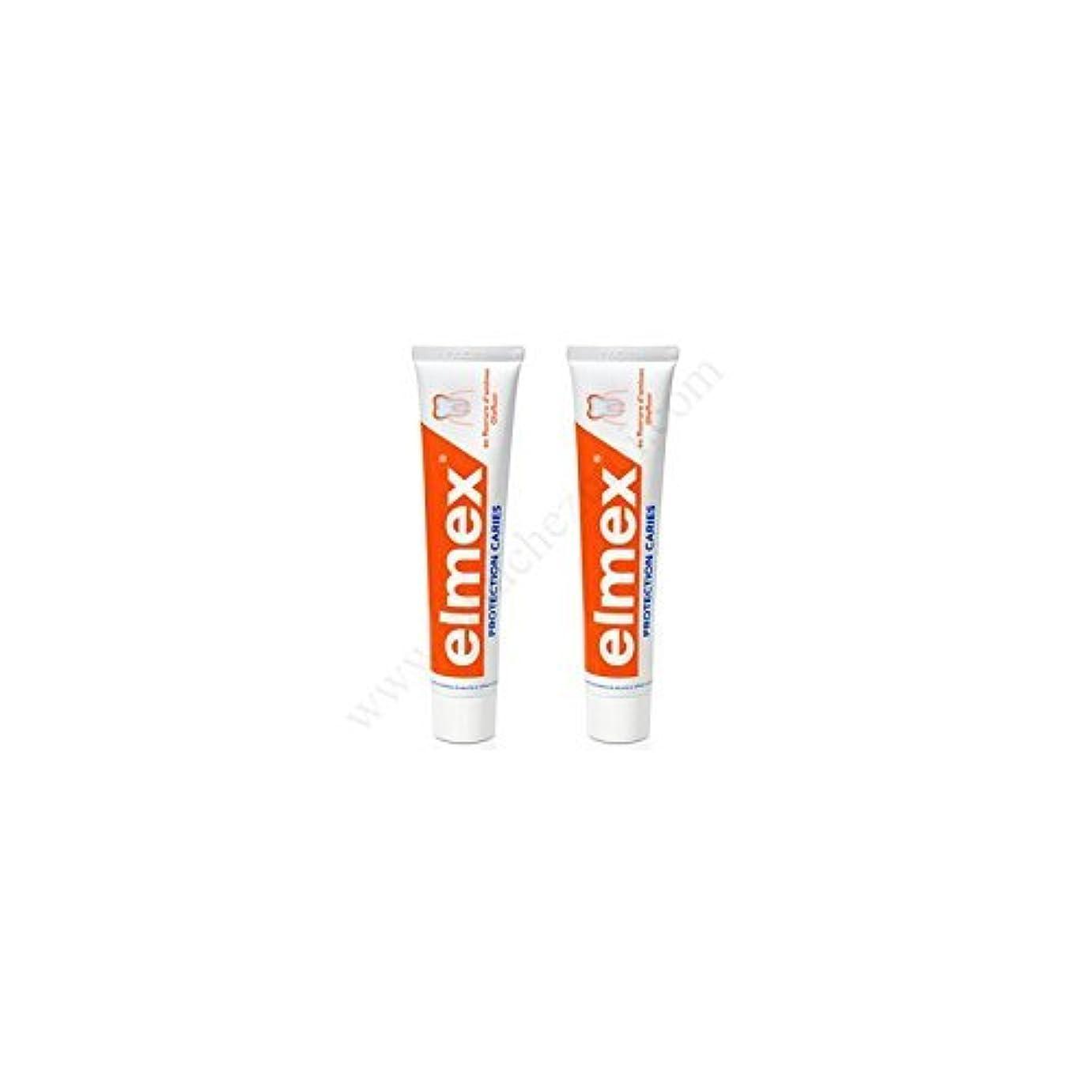 プレミアムズボンスカープElmex Decays Prevention Toothpaste 2x75ml by Elmex [並行輸入品]