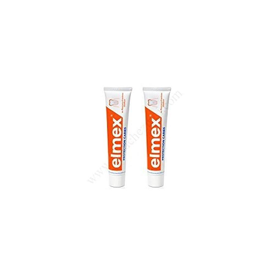 アーティキュレーション習慣お世話になったElmex Decays Prevention Toothpaste 2x75ml by Elmex [並行輸入品]
