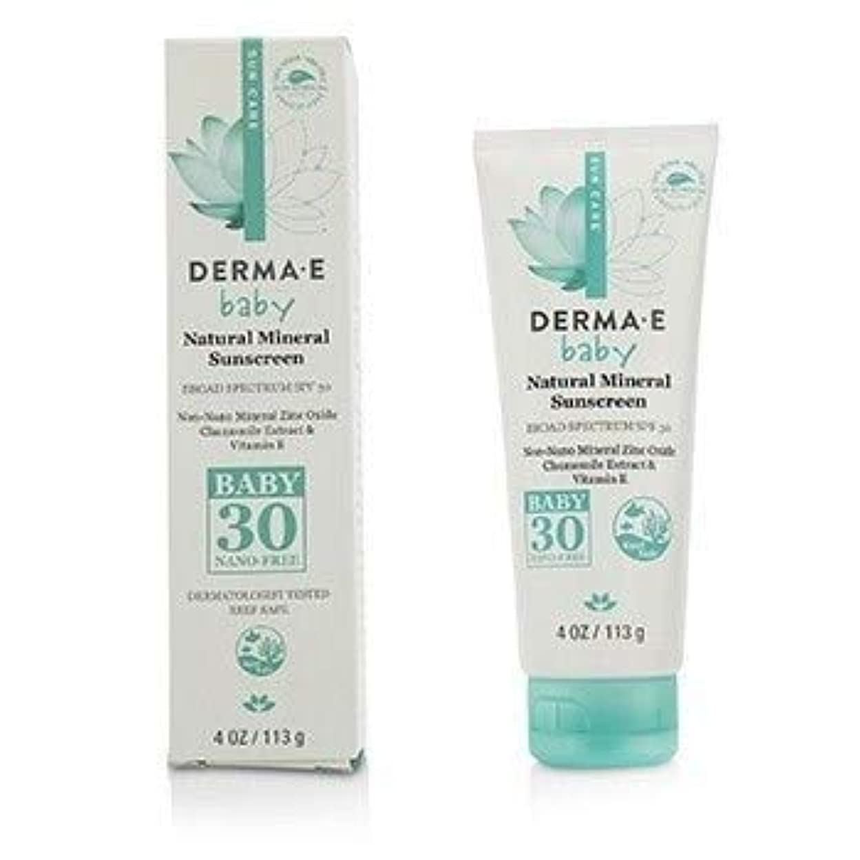 運ぶ申し立て有能なDerma E Natural Mineral Sunscreen Broad Spectrum SPF 30 - Baby 113g [並行輸入品]