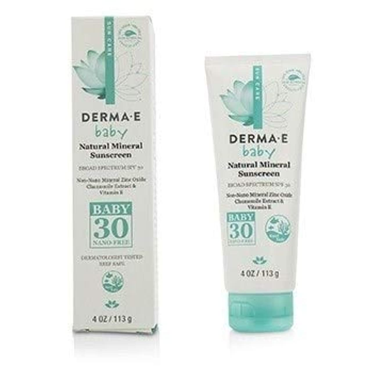 参照カップ脱臼するDerma E Natural Mineral Sunscreen Broad Spectrum SPF 30 - Baby 113g [並行輸入品]