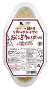 オーサワの国内産有機活性発芽玄米おにぎり(はとむぎ入り 90g×2個)×12個           JAN:4932828024578