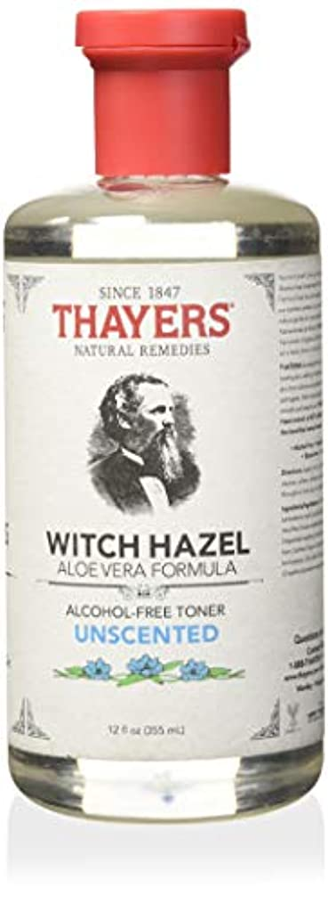 ラバ暗黙放棄されたThayer's: Witch Hazel with Aloe Vera, Unscented Toner 12 oz by Thayer's
