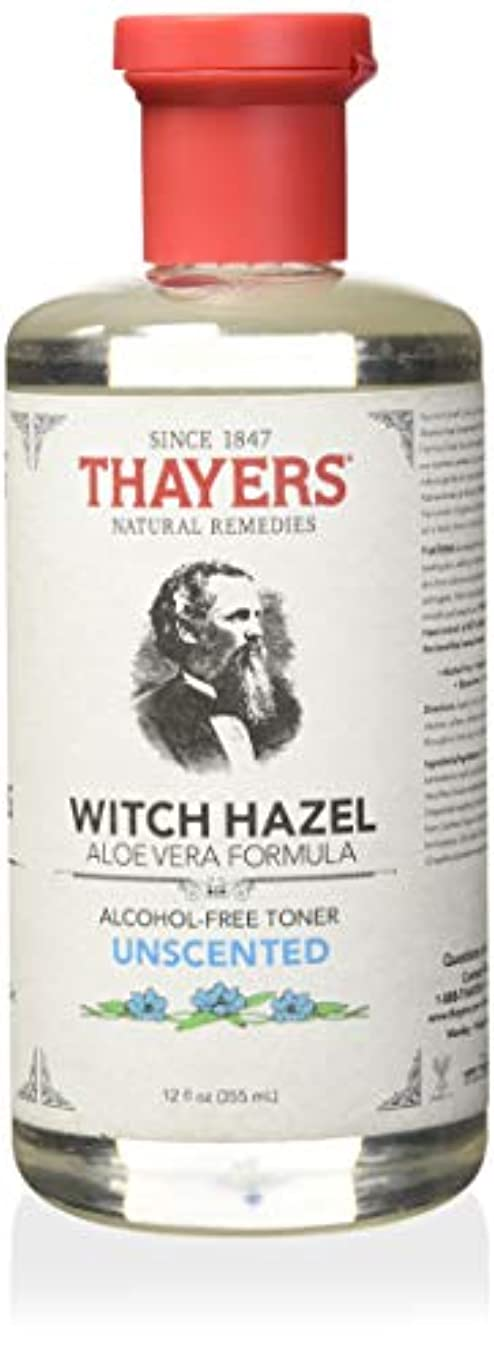 煙薬剤師うまれたThayer's: Witch Hazel with Aloe Vera, Unscented Toner 12 oz by Thayer's