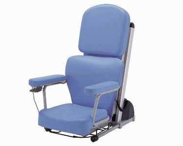 【座椅子、補助椅子】電動昇降座イス 独立宣言ツイスト ◆ブルー [DSTR]