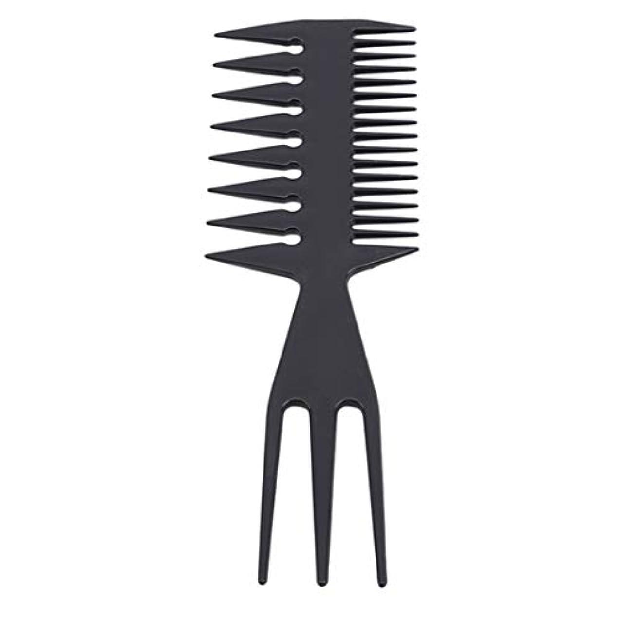 本質的ではない打たれたトラックサンドイッチUnderleaf 耐久性のあるヘアコームマッサージコーム男性の広い歯クラシックオイルスリックスタイリングヘアブラシ理髪ツール