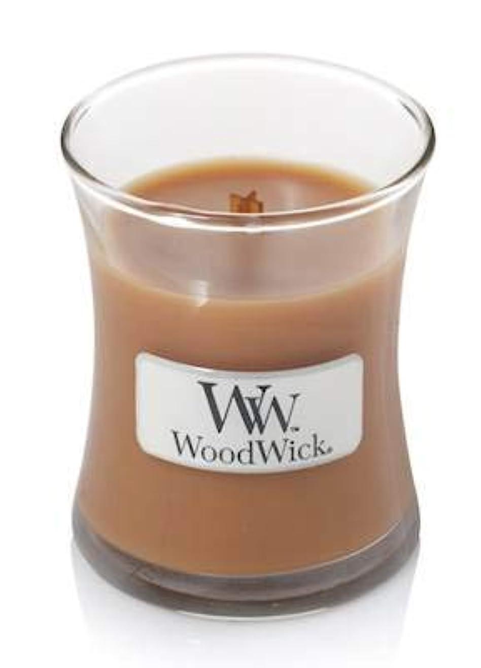 苦悩ベルベットバッテリーHot Toddy WoodWick Candle 3.4オンス