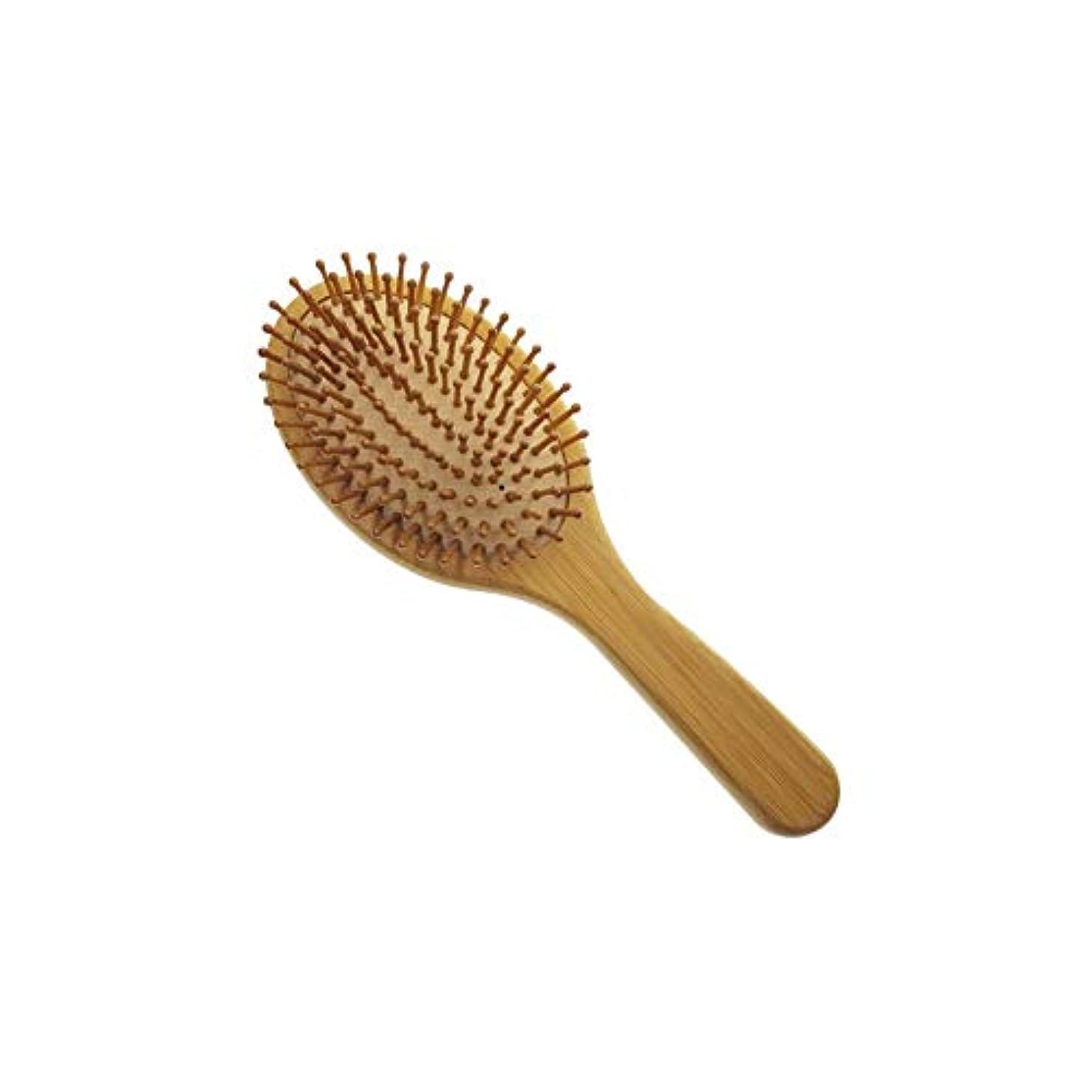 とまり木差別する用心する自然の竹木製パレットの毛は、ブラシ旬櫛は、髪の健康の男性と女性、台湾を改善する、頭皮をマッサージ毛