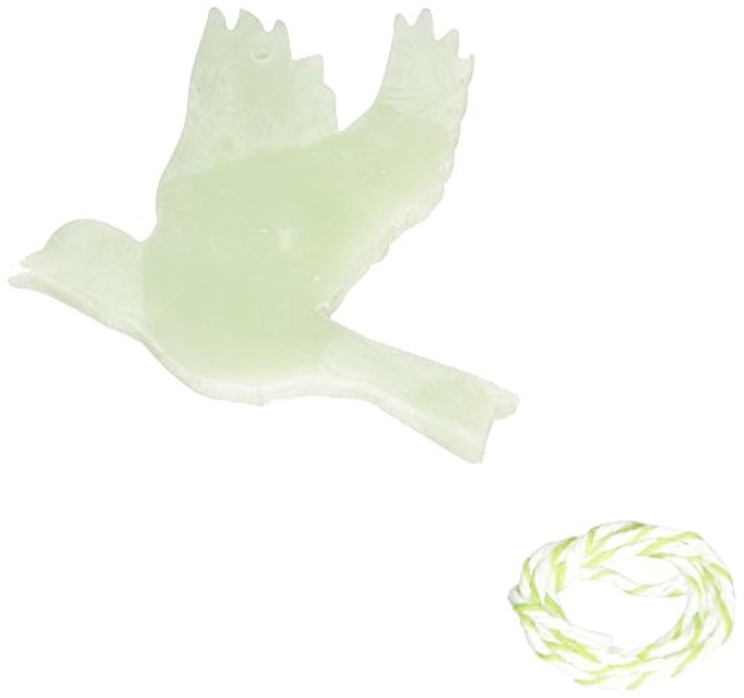 アルミニウム懲らしめ学生GRASSE TOKYO AROMATICWAXチャーム「ハト」(GR) レモングラス アロマティックワックス グラーストウキョウ