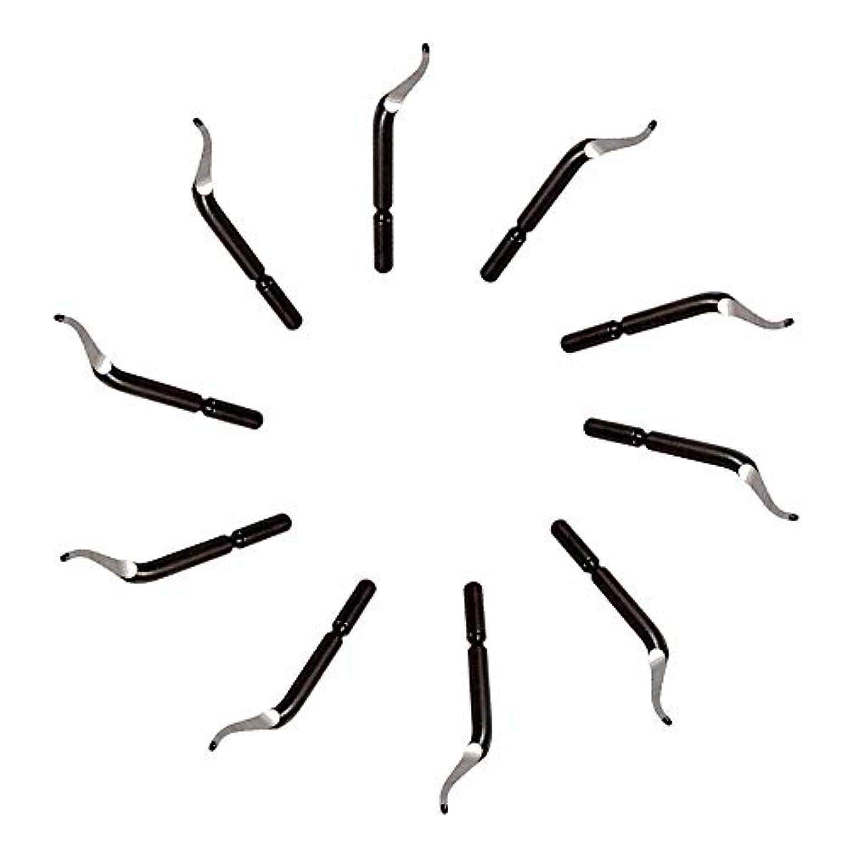 致死エゴイズムキルス1st market プレミアム品質バリ取りブレード - 交換用バリ取り工具BK3010 S150バリ取りブレード10個