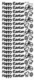 1 x SILVER Happy Easter Peel Off Stickers 420 card making, crafting by Crazy Grans [並行輸入品]