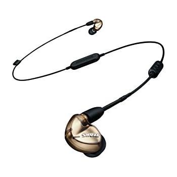 SHURE ワイヤレスイヤホン BT1シリーズ SE535 Bluetooth カナル型 高遮音性 ワイヤレスケーブル/リモコン・マイク付きケーブル付属 メタリックブロンズ SE535-V+BT1-A 【国内正規品】