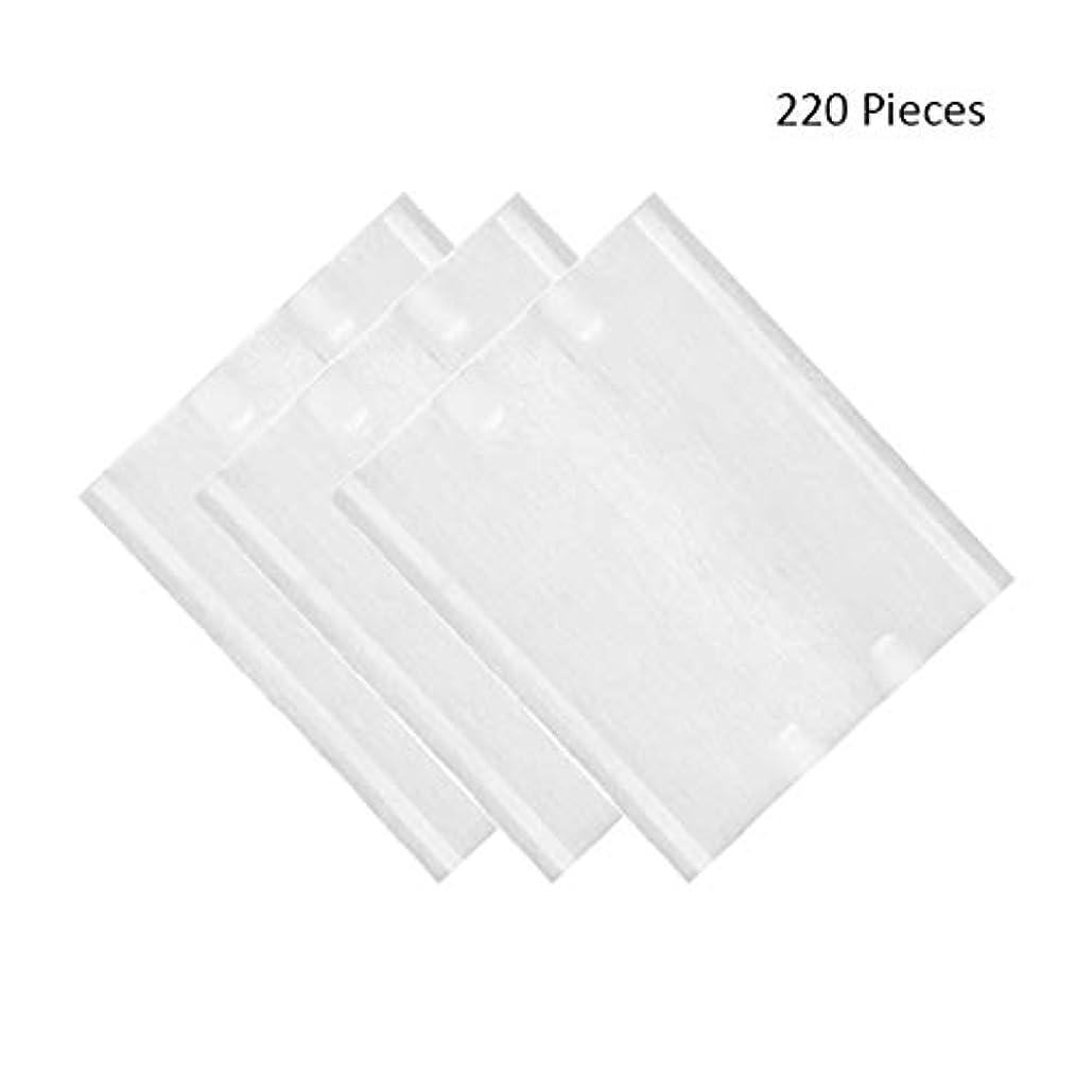 人工的な保安ポール220ピース/パックフェイスメイクリムーバーソフト化粧コットンパッド両面スキンケアクレンジングコットンパッドリムーバーワイプ (Color : White, サイズ : 6*5cm)