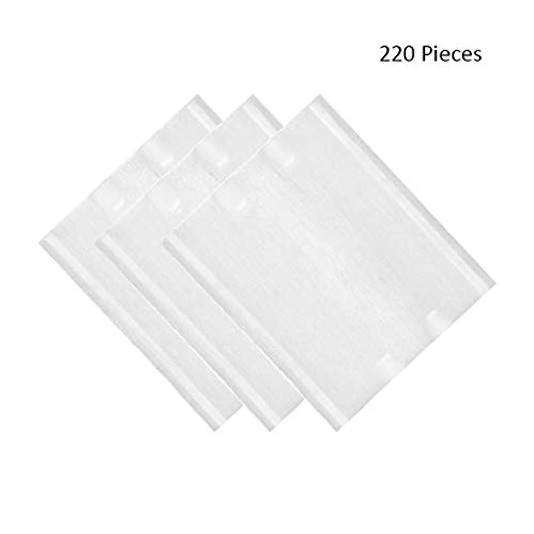 考古学者キャンペーンインク220ピース/パックフェイスメイクリムーバーソフト化粧コットンパッド両面スキンケアクレンジングコットンパッドリムーバーワイプ (Color : White, サイズ : 6*5cm)