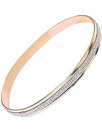 European Fashion Women Unique Bracelet Charm Scrub Type Female Ladies Wedding Bracelet Bangle Fine Jewelry Gift - Gold
