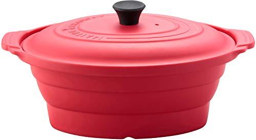 メトレフランセ 電子レンジ調理用品 レッド オーバル (L) グラン シリコンスチーマー 881-L/RD