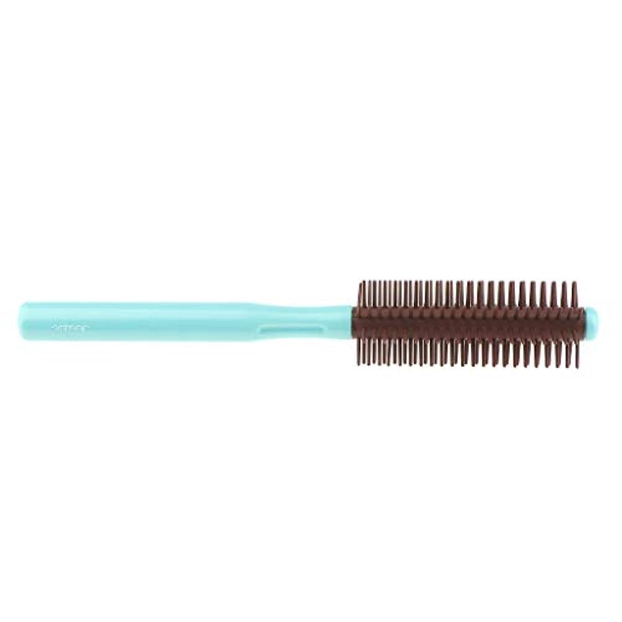 有名な証拠ロールブラシ 帯電防止櫛 ヘアブラシ くし 2色選べ - 青