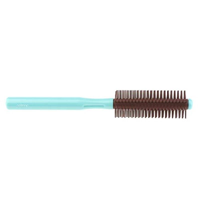 自治的再生持続するロールブラシ 帯電防止櫛 ヘアブラシ くし 2色選べ - 青