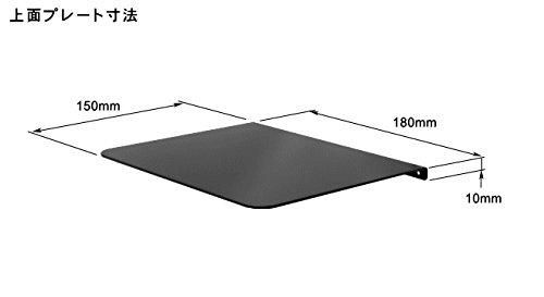 『NBROS モニターアーム固定用クランプ(万力)補強プレート [ 上面用150 x 180mm、底面用70 x 180mm ] NB-PP001』の3枚目の画像