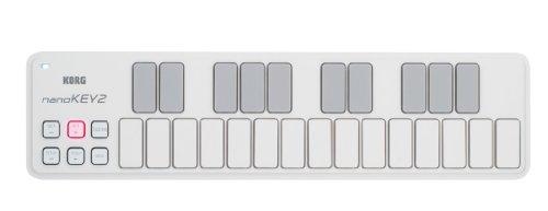 KORG 定番 USB MIDIキーボード nanoKEY2 WH ホワイト 音楽制作 DTM コンパクト設計で持ち運びに最適 すぐに始められるソフトウェアライセンス込み 25鍵