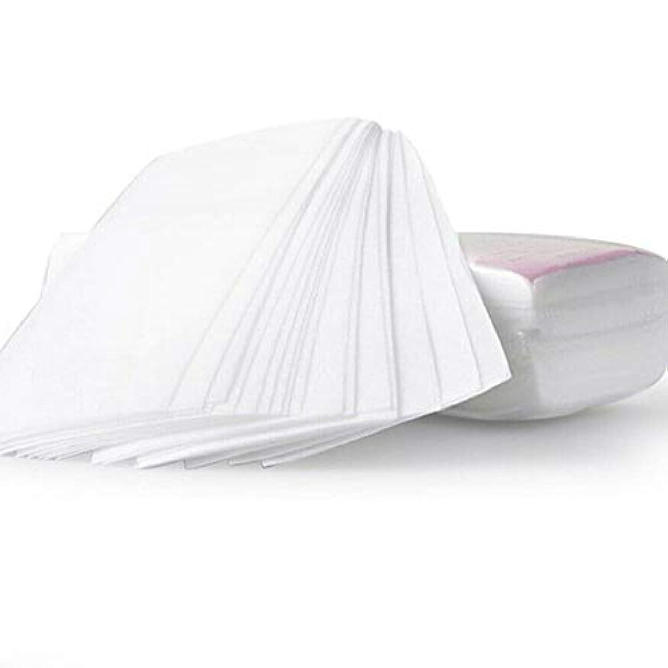 LULAA ワックス脱毛紙 脱毛シート 衛生 使い捨て 迅速かつ簡単 痛い感じがなく 100枚