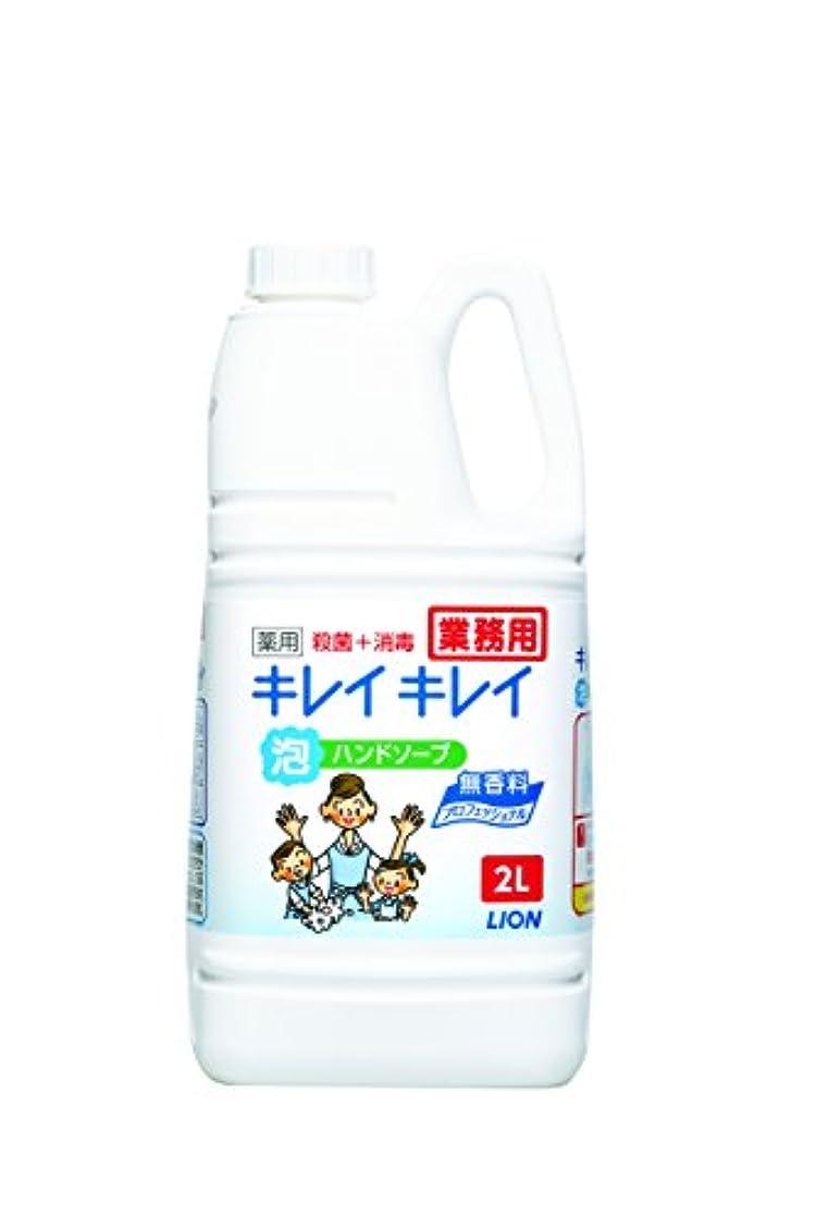 会話型符号弱点【大容量】キレイキレイ 薬用泡ハンドソープ プロ無香料2L