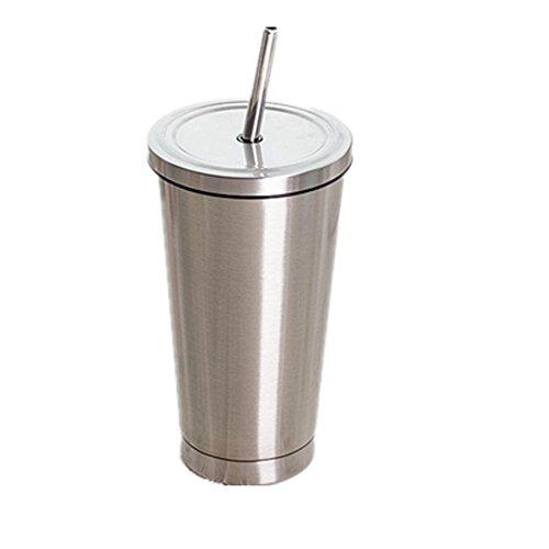 真空断熱 タンブラー ふた付き おしゃれ ステンレス 携帯 コーヒー カップ 500mlシルバー