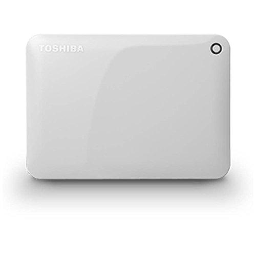 東芝 ポータブルハードディスク CANVIO CONNECT ホワイト HD-PF30TW   1コ入  / 東芝 TOSHIBA