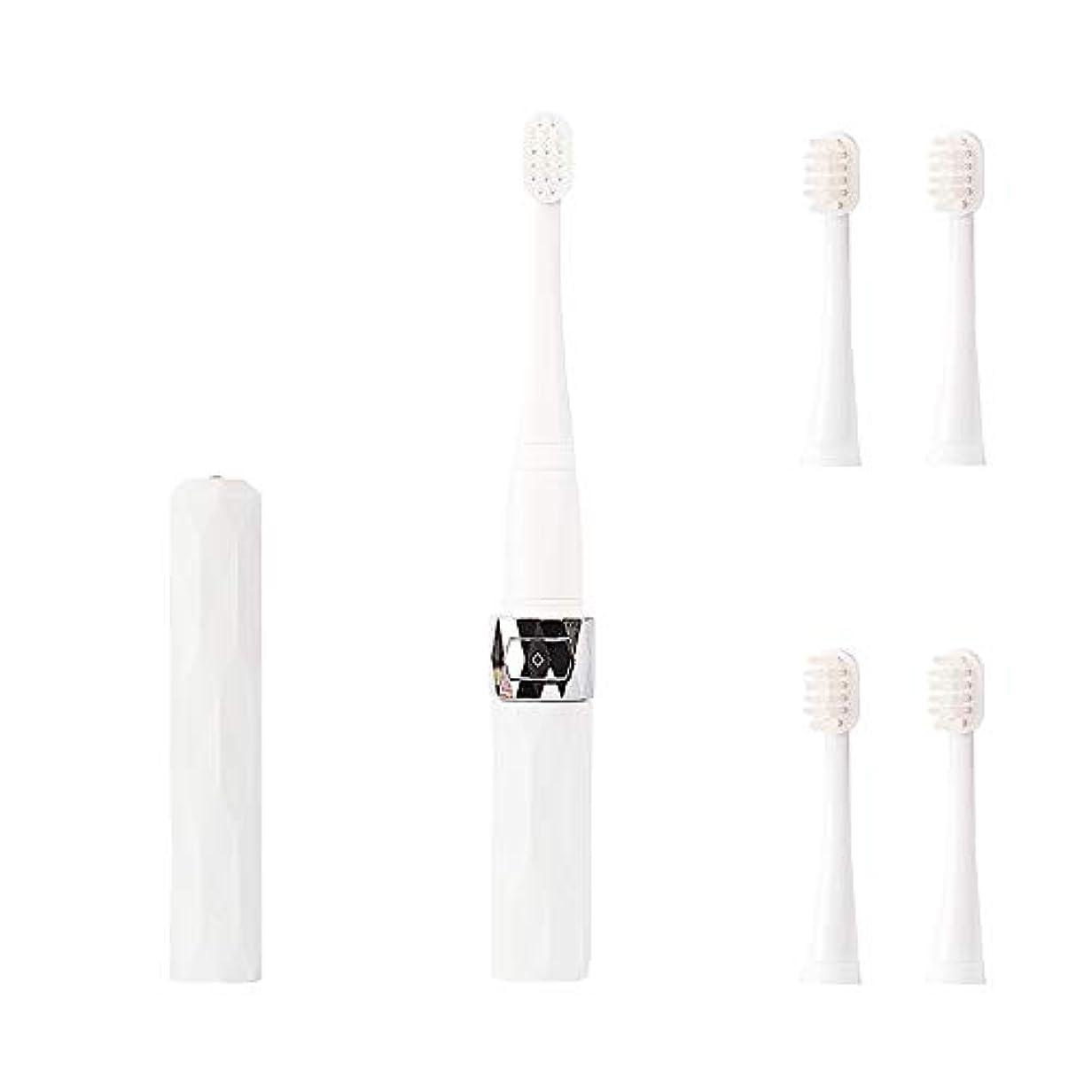 で急いで一部コリミダ(COLIMIDA) 電動歯ブラシ 子供歯ブラシ 音波振動 スマートソニック 携帯に便利な 防水式 替えブラシ4本 歯ブラシシステマ 極細毛 タイプ ルージュ ホワイト