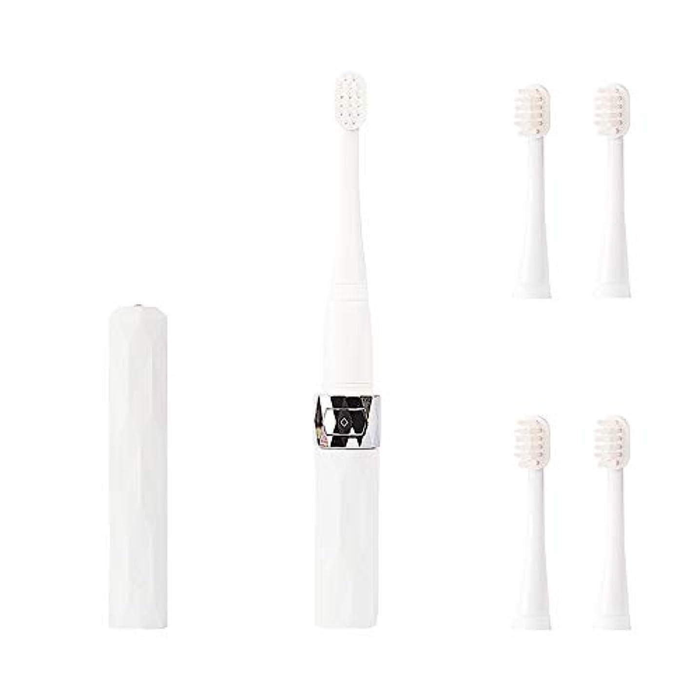 キャプテンビュッフェ定期的なコリミダ(COLIMIDA) 電動歯ブラシ 子供歯ブラシ 音波振動 スマートソニック 携帯に便利な 防水式 替えブラシ4本 歯ブラシシステマ 極細毛 タイプ ルージュ ホワイト