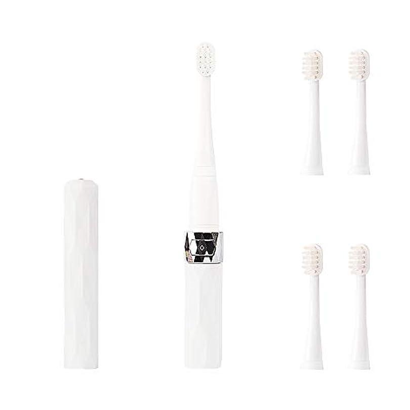 コリミダ(COLIMIDA) 電動歯ブラシ 子供歯ブラシ 音波振動 スマートソニック 携帯に便利な 防水式 替えブラシ4本 歯ブラシシステマ 極細毛 タイプ ルージュ ホワイト