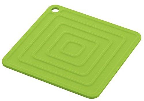 アスベル シリコン鍋敷き(角型)  「ポゼ」 グリーン