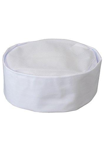 (センツキ) SENTSUKI 和帽子 和食 調理用 メッシュ 日本製 着心地に自信あり 2枚セット 16210 ホワイト M
