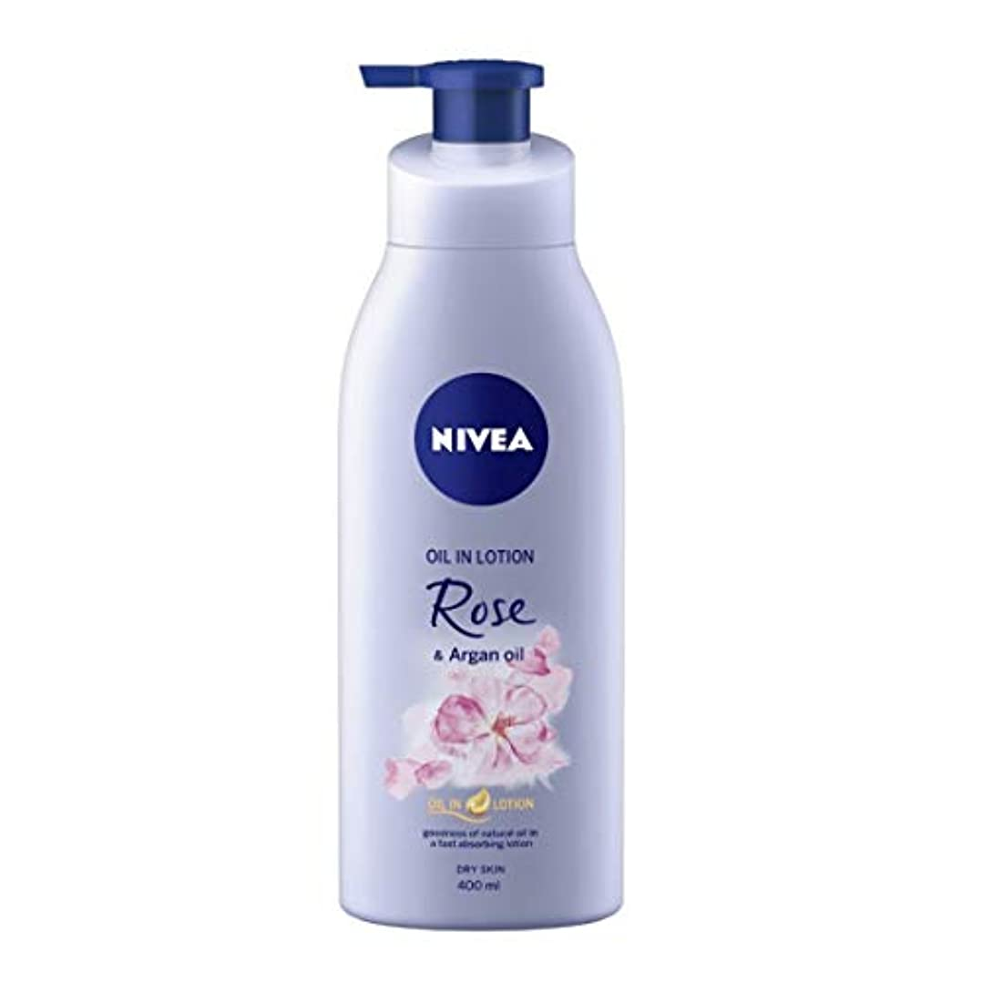 寝てる終わらせる良心的NIVEA Oil in Lotion, Rose and Argan Oil, 400ml