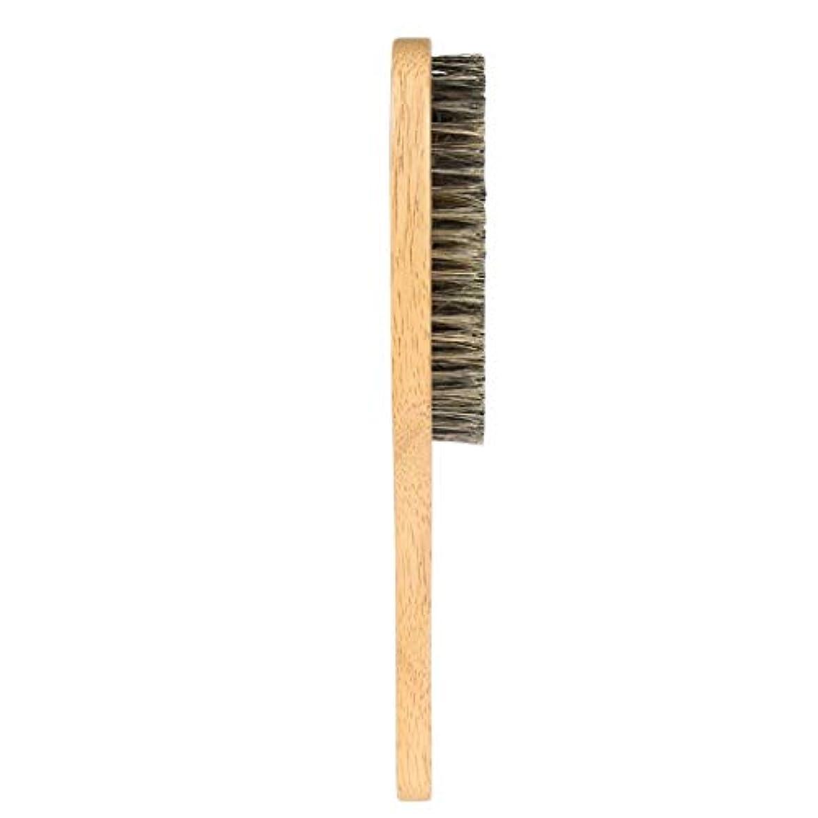 Toygogo 男性合成繊維ひげ口ひげブラシ顔毛シェービングブラシw/ハンドル